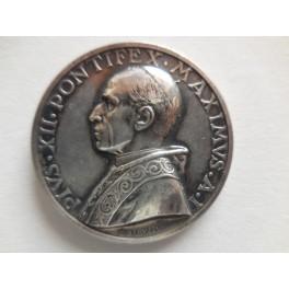 Pio XII medaglia anno I argento