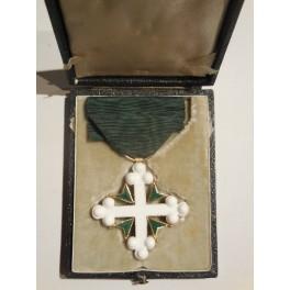 Croce mignon da cavaliere ordine della Corona d'Italia con rosetta e scatolina originale
