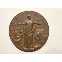 Trieste medaglia a ricordo della riunione adriatica di Sicurtà1938