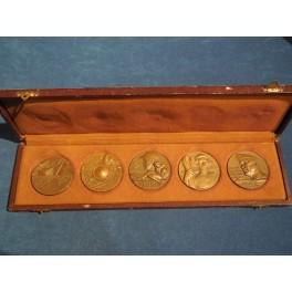 Serie di 5 medaglie per la fondazione dell'Impero 1935-36