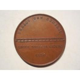 Medaglia a ricordo della costruzione del ponte sul magra San Genesio 1856