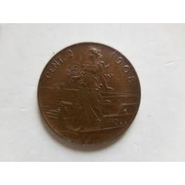 2 centesimi 1908 FDC