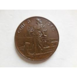 5 centesimi 1915 FDC