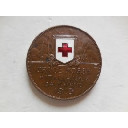 gettone medaglia 10 centesimi 1915 Croce Rossa CRI