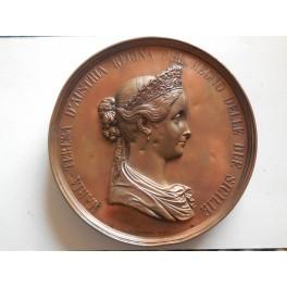 Regno delle 2 Sicilie medaglia in onore a Maria Teresa d'Austria 1858