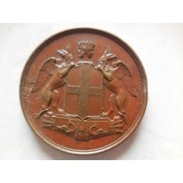 Genova medaglia il Re inaugura la ferrovia Ligure Subalpina 1854