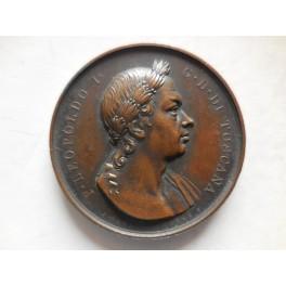 Gran Ducato di Toscana medaglia inaugurazione monumento a Pietro Leopoldo 1833