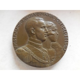 Medaglia matrimonio Umberto II e Maria Josè 1930
