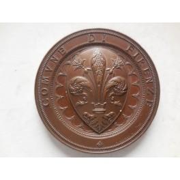 Firenze medaglia per le onoranze a Paolo Toscanelli e Amerigo vespucci 1898